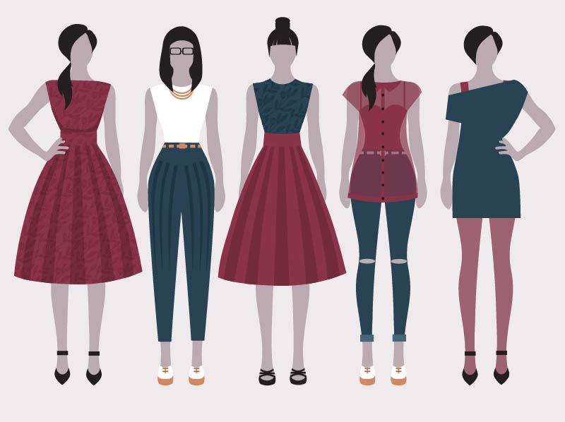 אופנה ממוחשבת בעזרת תוכנות אילוסטרייטור עיצוב גרפי