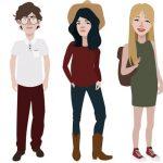 ציור בגדים באיור גרפי