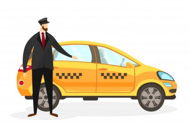 איש ומכונית ציור