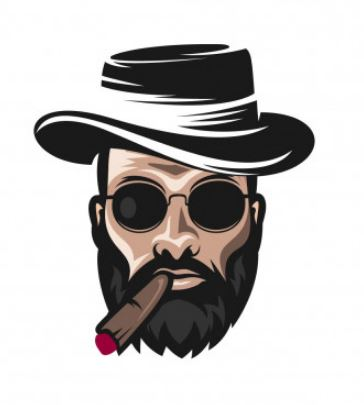 איש מעשן ציור