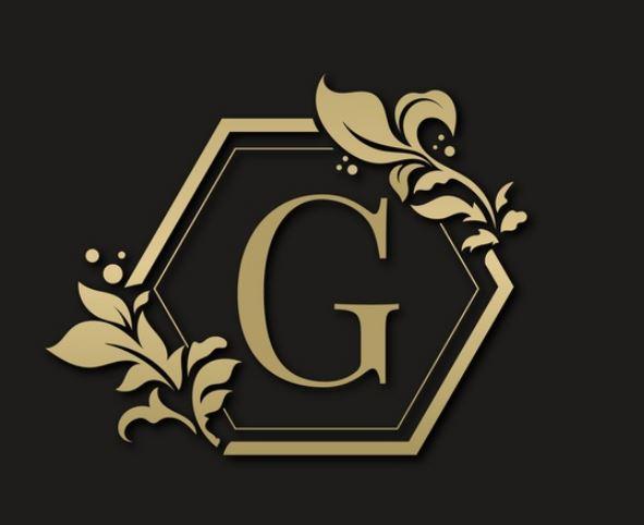 לוגו עיצוב גרפי בצבע זהב