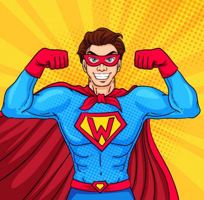 סופרמן גיבור ציור באילוסטרייטור