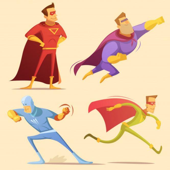 סופרמן ציור באילוסטרייטור